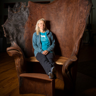 Nell in Royal Chair