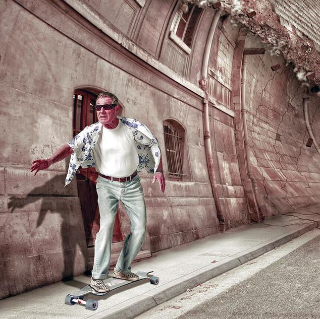 Sidewalk Surfing