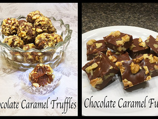 Amyzing Chocolate Caramel Truffles & Chocolate Caramel Fudge