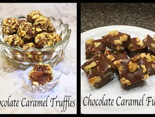 Amyzing Chocolate Caramel Truffles & Chocolate Caramel Fudge