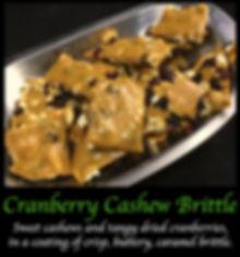 Cranberry Cashew Caramel Brittle
