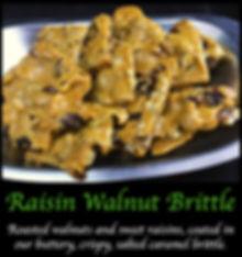 Raisin Walnut Caramel Brittle