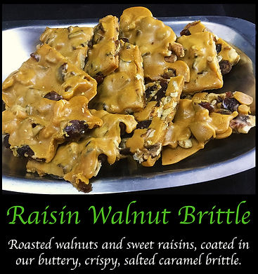 Raisin Walnut Caramel Brittle