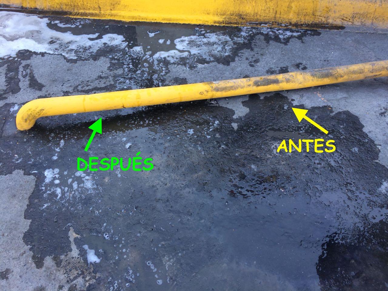 4) Desengrasante Tubo Antes y Después.J