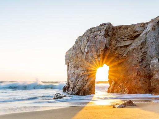 Sunset dans l'arche de Port Blanc