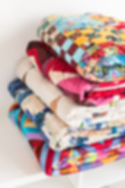 patchwork, quilting and fashion concept
