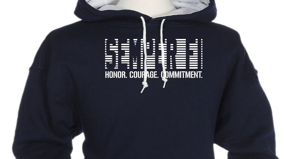 Unisex Two Color Military Hoodie