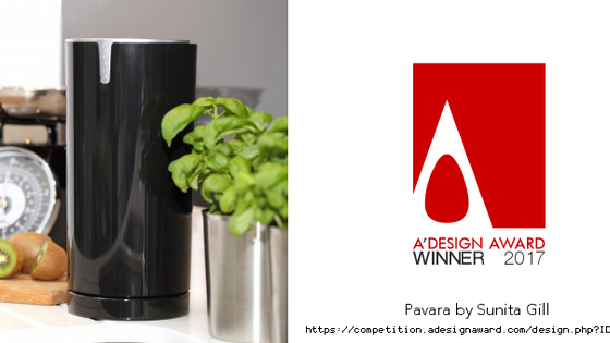 PAVARA is an A' Design Award winner