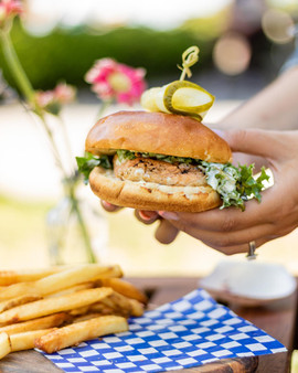 Two-Handed Salmon Burger