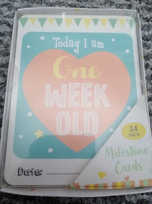 Brand New Baby Milestone cards
