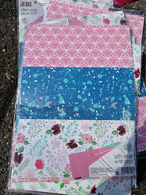 Brand New packs of wrapping paper