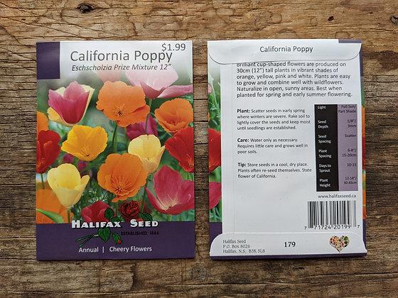 California Poppy - Eschscholzia Prize Mix