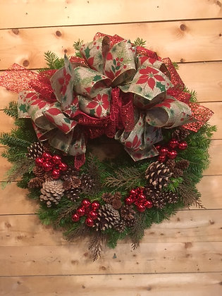 Crimson Country Wreath