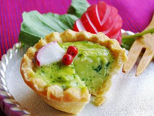 Radish (Leaves) & Avocado Quiche