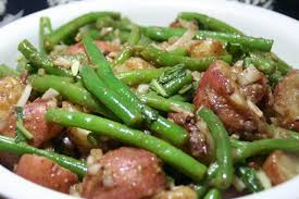 Warm Potato and Green Bean Salad with Summer Savory