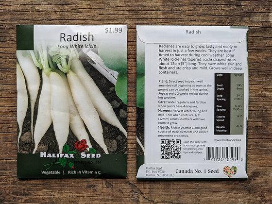 Radish - Long White Icicle