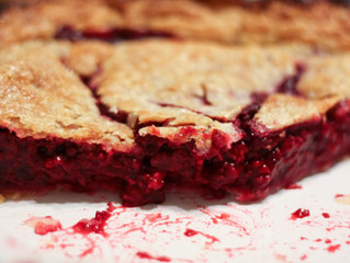Plum & Raspberry Pie