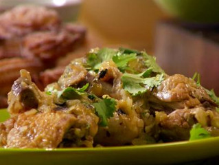 Braised Chicken with Tomatillos and Hot Peppers
