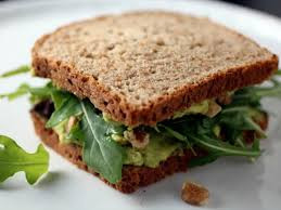 Awesome arugula and avocado sandwich