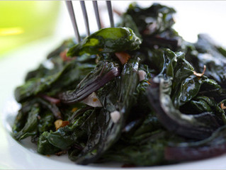 Sautéed Beet Greens with Garlic and Olive Oil