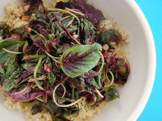Using Amaranth Greens