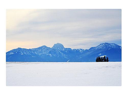 Schlafende Jungfrau im Winter