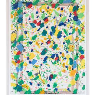 2006 Alles im Garten 80:60 Öl auf Pappe