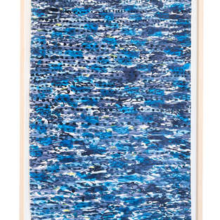 2019 Wellen 3 87:55 Aquarell auf Japanpapier
