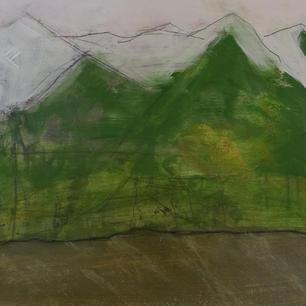 Gebirge, 30x40x9, Pigment, Acryl a. Holz.JPG