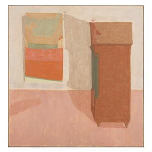 Schrank und Bild I, 1992-93, Öl auf Lein