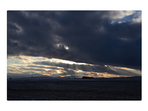 Winter in Bad Aibling über Ellmosen