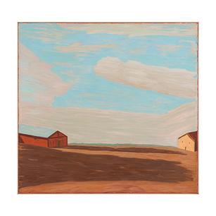 Bremervörder Landschaft, 2011, Öl auf Le