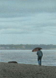 Mann am Strand 2