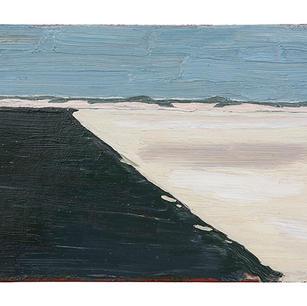 Strandlandschaft, 2021, Öl auf Karton, 1
