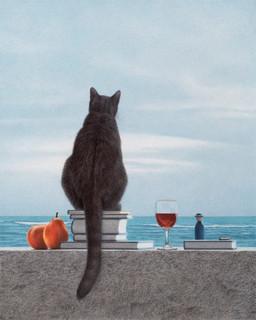 Katze am Meer 2