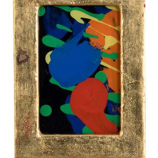 2013 Flecken hinter Glas 8,5:6 Öl auf Glas