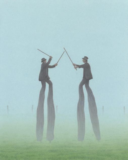 Männer im Nebel
