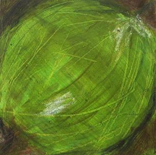 Kosmopolit (1), 15x15x9, Pigment, Acryl a. Holz, 2015.JPG