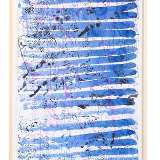 2019 Wellen 1 87:55 Aquarell auf Japanpapier