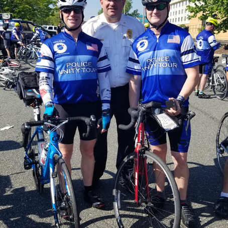 Fairfield PD riding in UNITY TOUR 2021 - Link to donate