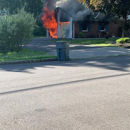Fairfield Fire Department Battles Afternoon House Fire