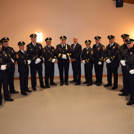 Fairfield Police Promote Ten Officers and Hire Three