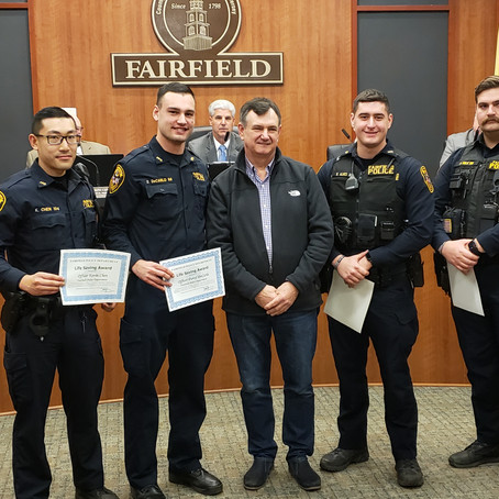 Six Fairfield Officers Receive Lifesaving Awards