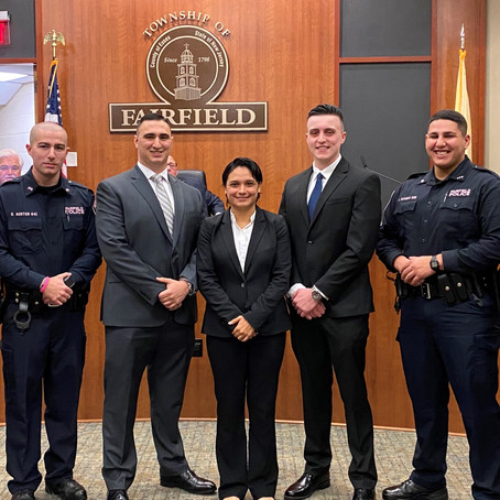 Fairfield Police Swear in Two Probationary Police Officers and Five Special Law Enforcement Officers