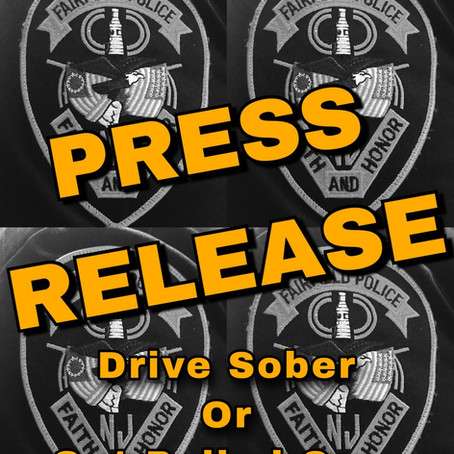 Impaired Driving Enforcement Crackdown to be Conducted Locally as Part of Statewide End of Summer
