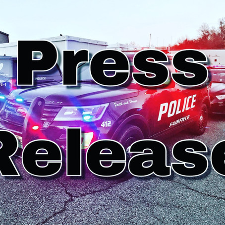 Fairfield Police Officers Assist with Apprehension of Denville Armed Robbery Suspects