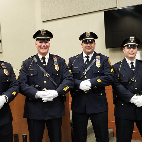 Fairfield Police Promotes Four Sergeants and Swears In New Class II Special Officer