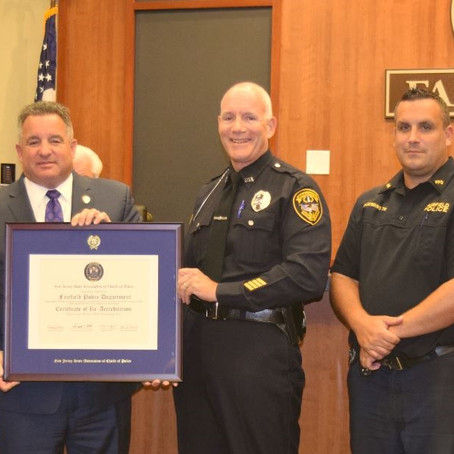 Fairfield Police Department Receives Re-Accreditation from State Chiefs Organization