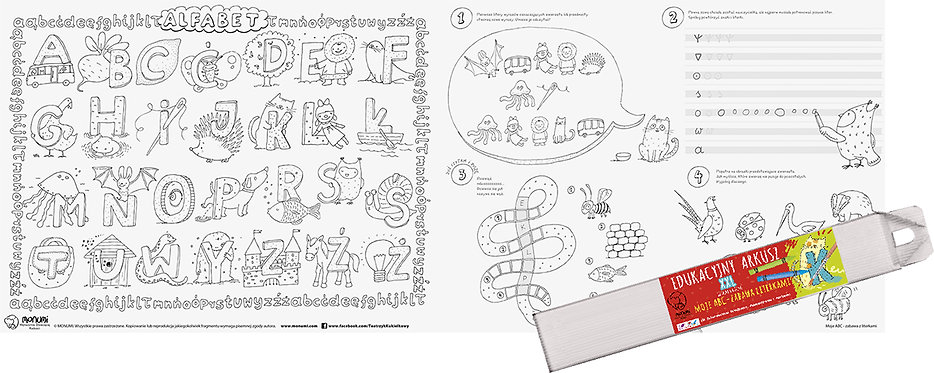 "Educational Drawing Board ""My ABCs"" XXL MONUMI"