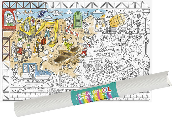 "Colouring sheet ""Construction Site"" XXL MONUMI"